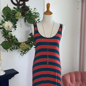 NWOT Kenzie red/blue striped dress.